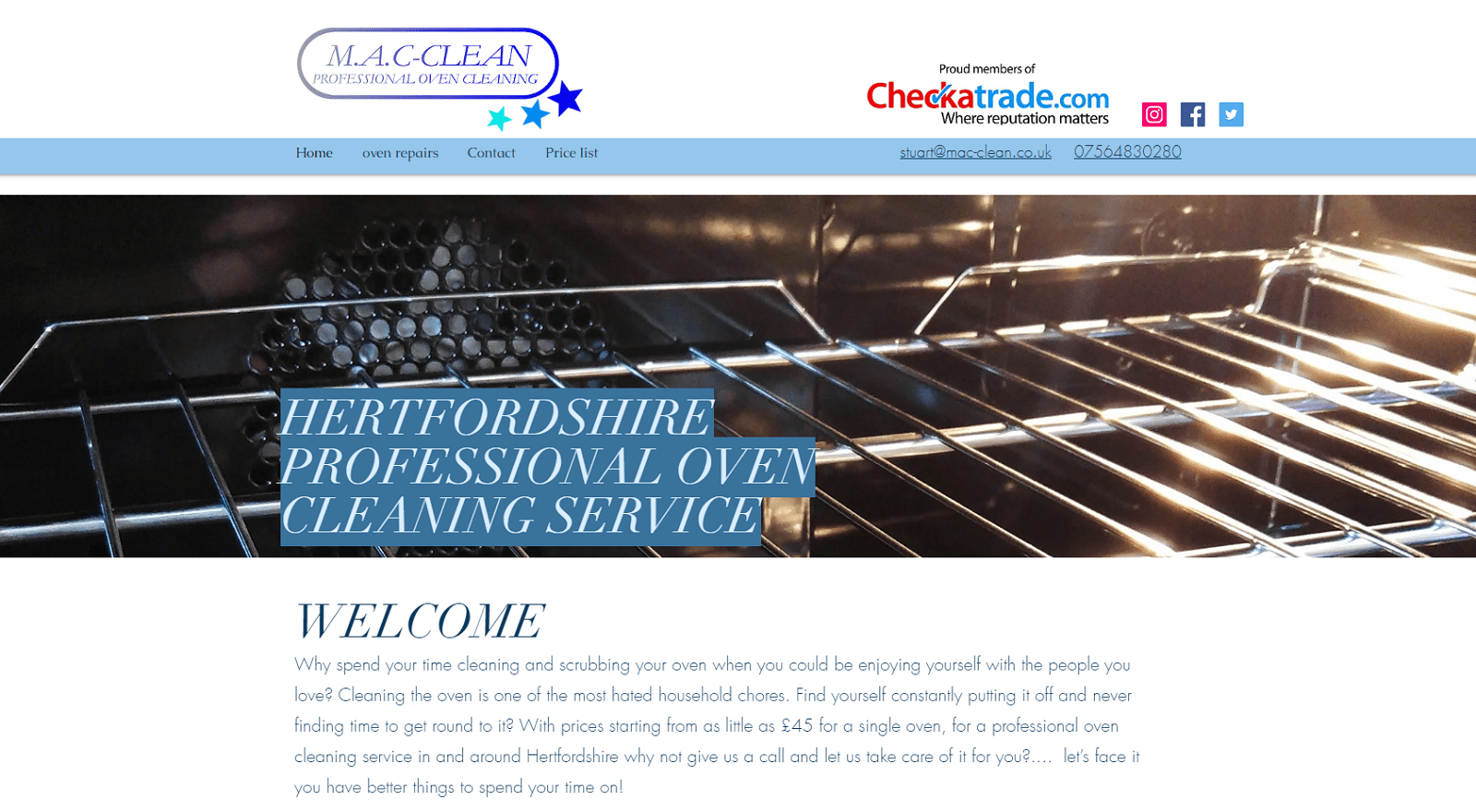 M.A.C. Oven Clean's Homepage