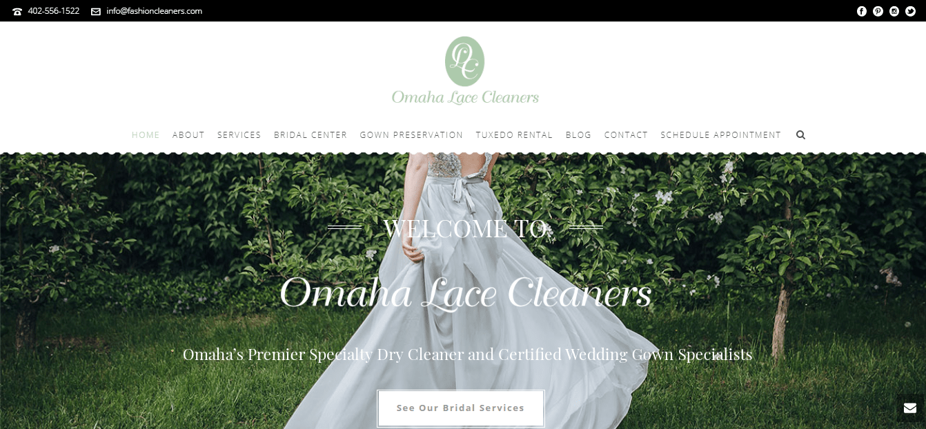 Omaha Lace Cleaners' Homepage