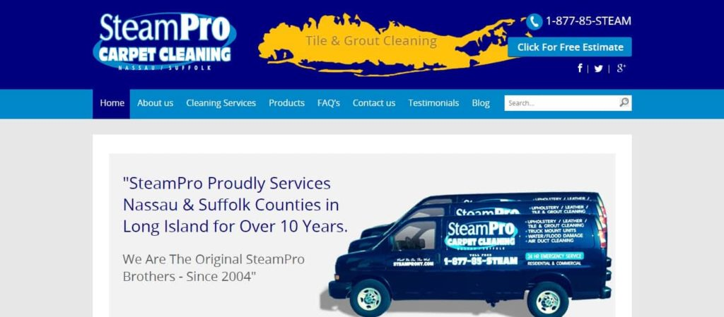 SteamPro Carpet Cleaning's Homepage