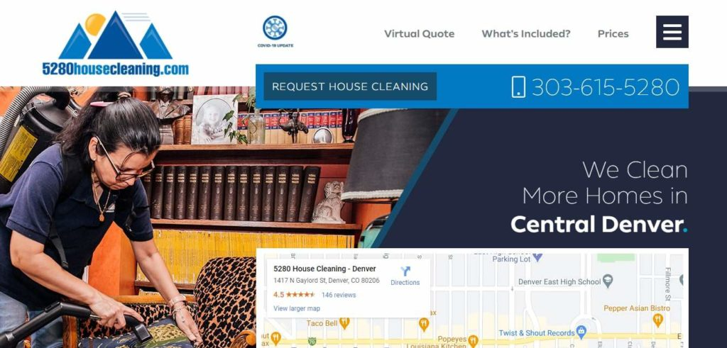 5280 House Cleaning's Homepage