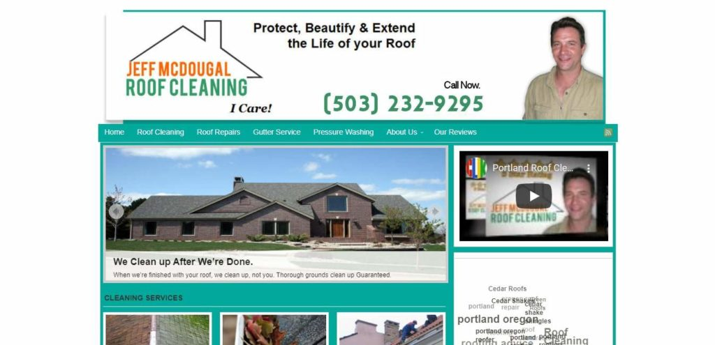 Portland Roof Cleaning And Gutter Service's Homepage