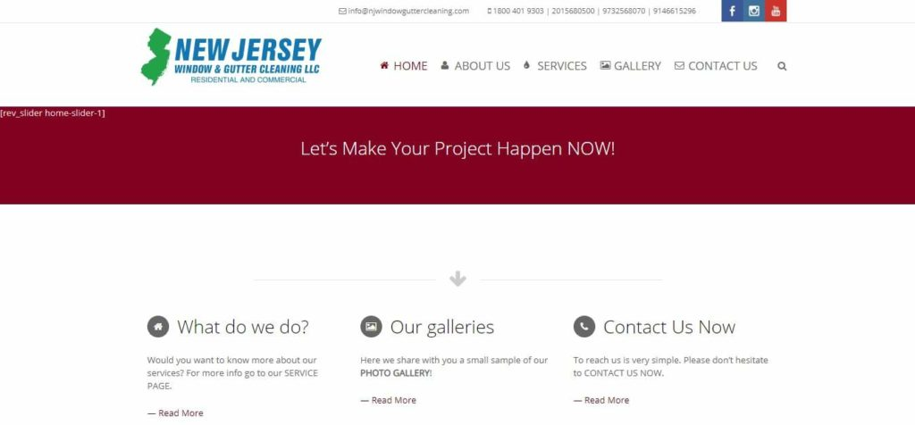 New Jersey Window & Gutter Cleaning's Homepage