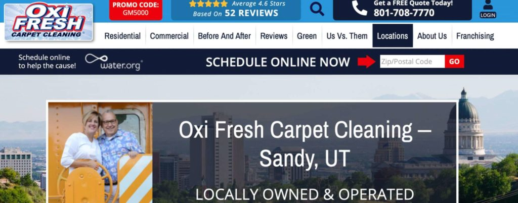 Oxi Fresh Carpet Cleaning's Homepage