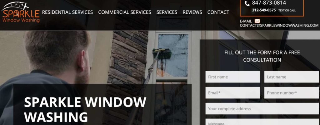 Sparkle Window Washing & Gutter Cleaning's Homepage